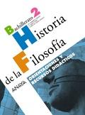 HISTORIA DE LA FILOSOFÍA, 2 BACHILLERATO. ORIENTACIONES Y RECURSOS DIDÁCTICOS DEL PROFESOR