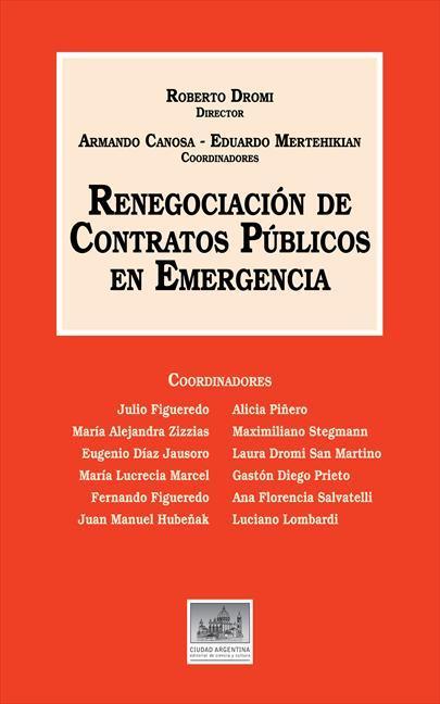 RENEGOCIACIÓN DE CONTRATOS PÚBLICOS EN EMERGENCIA