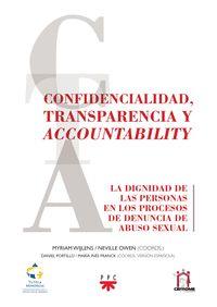 CONFIDENCIALIDAD, TRANSPARENCIA Y ACCOUN