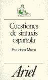 CUESTIONES DE SINTAXIS ESPAÑOLA