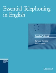 ESSENTIAL TELEPHONING IN ENGLISH TEACHER´S BOOK