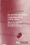 NOVELA FEMENINA CONTEMPORANEA 1970-1985