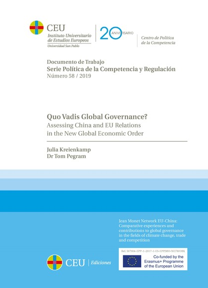QUO VADIS GLOBAL GOVERNANCE?                                                    ASSESSING CHINA