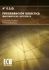 Programación Didáctica. 4º ESO, Matemáticas Opción B