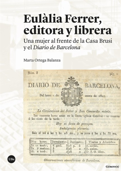 EULÀLIA FERRER, EDITORA Y LIBRERA                                               UNA MUJER AL FR