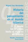 HISTORIA DEL PENSAMIENTO EN EL MUNDO ISLÁMICO. 1. DESDE LOS ORÍGENES HASTA EL SIGLO XX EN ORIEN