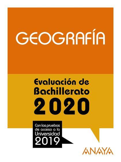 SELECTIVIDAD GEOGRAFIA 2020.