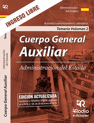 TEMARIO II CUERPO GENERAL AUXILIAR ADMINISTRACION ESTADO