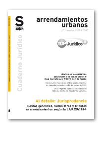 GASTOS GENERALES, SUMINISTROS Y TRIBUTOS EN ARRENDAMIENTOS SEGÚN LA LAU 29/1994.