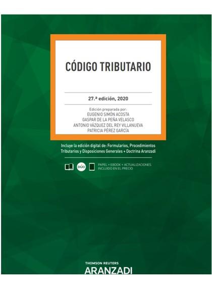 CÓDIGO TRIBUTARIO 27ª ED. 2020.