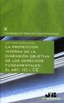 LA PROYECCIÓN INTERNA DE LA DIMENSIÓN OBJETIVA DE LOS DERECHOS FUNDAMENTALES : EL ART. 10.1 CE