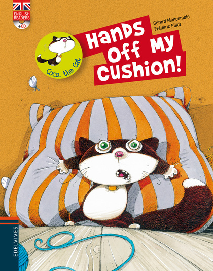 COCO THE CAT. HANDS OFF MY CUSHION!