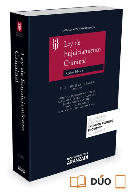 LEY DE ENJUICIAMIENTO CRIMINAL.
