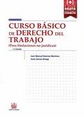 CURSO BÁSICO DE DERECHO DEL TRABAJO (PARA TITULACIONES NO JURÍDICAS) 11ª EDICIÓN.