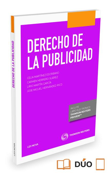 DERECHO DE LA PUBLICIDAD (PAPEL + E-BOOK).