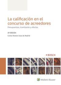 CALIFICACION EN EL CONCURSO DE ACREEDORES 2º ED,LA