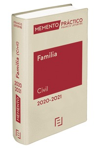 MEMENTO FAMILIA (CIVIL) 2020-2021.