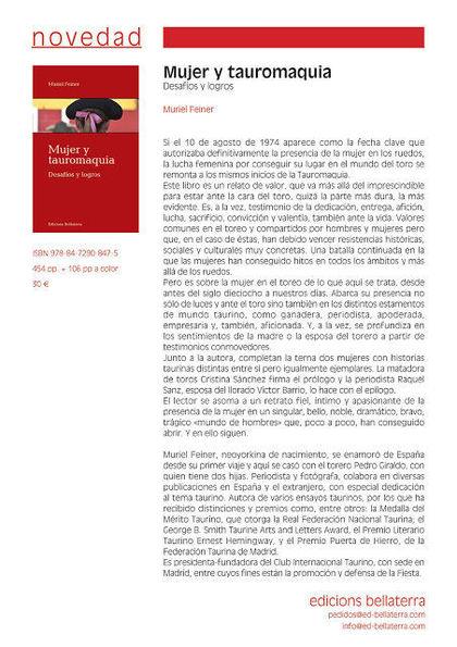 MUJER Y TAUROMAQUIA. DESAFÍOS Y LOGROS