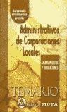 ADMINISTRATIVOS DE CORPORACIONES LOCALES TEMARIO