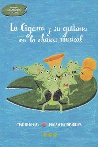 CIGARRA Y SU GUITARRA EN LA CHARCA MUSICAL,LA