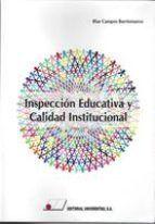 INSPECCIÓN EDUCATIVA Y CALIDAD INSTITUCIONAL