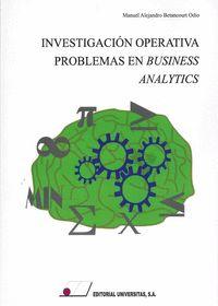 INVESTIGACIÓN OPERATIVA. PROBLEMAS EN BUSINESS ANALYTICS