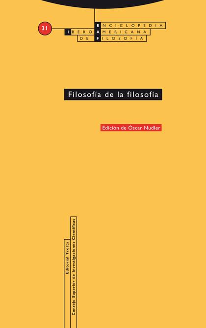 FILOSOFIA DE LA FILOSOFIA