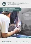 Desmontaje y separación de elementos fijos. TMVL0309
