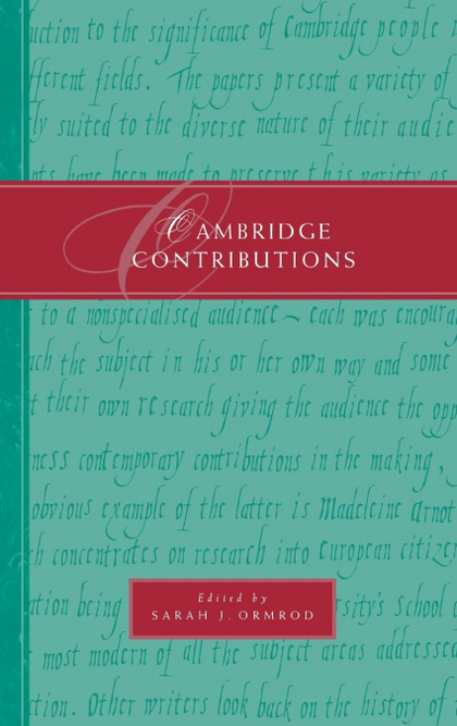 CAMBRIDGE CONTRIBUTIONS