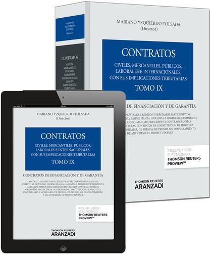 TOMO IX. CONTRATOS DE FINANCIACIÓN Y DE GARANTÍA (PAPEL + E-BOOK).