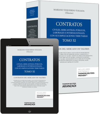 TOMO XI. CONTRATOS DEL MERCADO DE VALORES (PAPEL + E-BOOK).