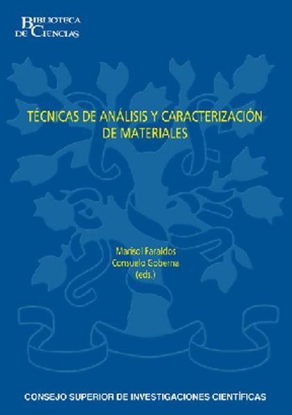 TÉCNICAS DE ANÁLISIS Y CARACTERIZACIÓN DE MATERIALES