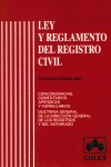 LEY Y REGLAMENTO DEL REGISTRO CIVIL
