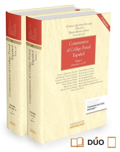 COMENTARIOS AL CÓDIGO PENAL ESPAÑOL VOLUMEN I Y VOLUMEN II