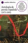 ANTOLOGIA POESIA ESPAÑOLA 1975-1995