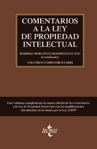 VOLUMEN COMPLEMENTARIO A LA CUARTA EDICIÓN DE COMENTARIOS A LA LEY DE PROPIEDAD