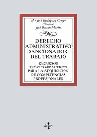 EL DERECHO ADMINISTRATIVO SANCIONADOR DEL TRABAJO.