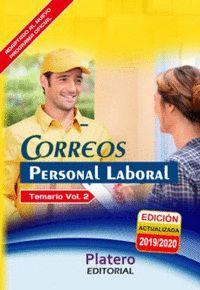 PERSONAL LABORAL DE CORREOS. TEMARIO. VOLUMEN II.