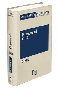 MEMENTO PRÁCTICO PROCESAL CIVIL 2020 (PRE-VENTA. PREVISTA PUBLICACIÓN 28 NOVIEMB
