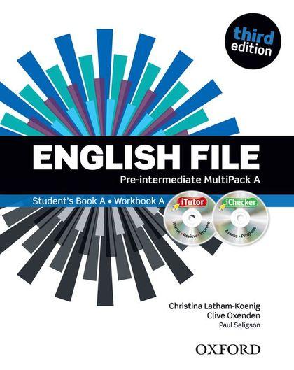ENGLISH FILE P-INT SB+WB A PK 3ED.
