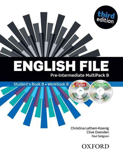 ENGLISH FILE P-INT SB+WB B PK 3ED.