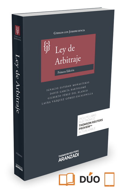 LEY DE ARBITRAJE CON JURISPRUDENCIA (PAPEL + E-BOOK).