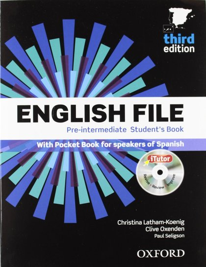 ENGLISH FILE PRE INTERMEDIATE SB+WB W/K PK 3ED.