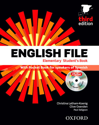 ENGLISH FILE 3RD EDITION ELEMENTARY. STUDENT´S BOOK, ITUTOR AND POCKET BOOK PACK.