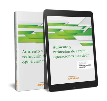AUMENTO Y REDUCCIÓN DE CAPITAL: OPERACIONES ACORDEÓN (PAPEL + E-BOOK)