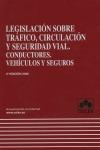LEGISLACIÓN SOBRE TRÁFICO, CIRCULACIÓN Y SEGURIDAD VIAL: CONDUCTORES, VEHÍCULOS Y SEGUROS