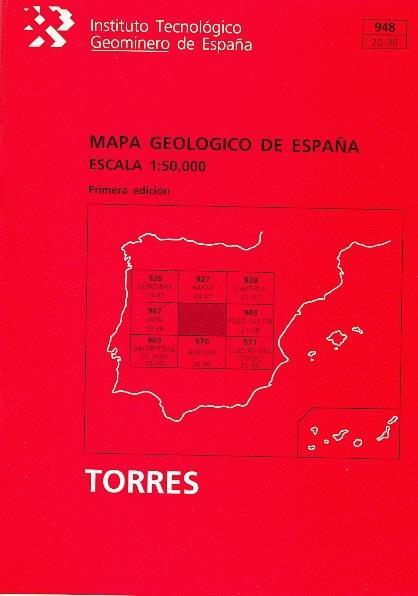 MAPA GEOLÓGICO DE ESPAÑA, ESCALA 1:50.000, TORRES.