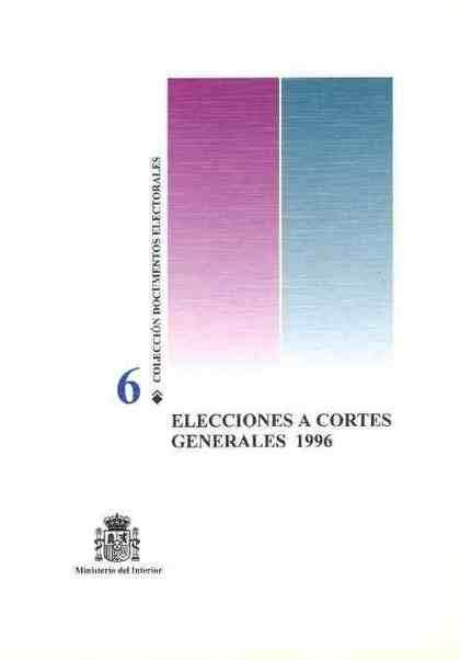 ELECCIONES A CORTES GENERALES 1996.