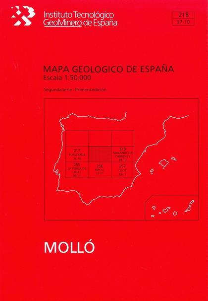 MAPA GEOLÓGICO DE ESPAÑA, E 1:50.000 Y MEMORIA. N  218 MOLLO
