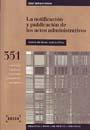 LA NOTIFICACIÓN Y PUBLICACIÓN DE LOS ACTOS ADMINISTRATIVOS